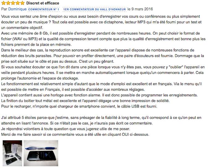 Meilleur avis Amazon de l'Etekcity VR-BK8