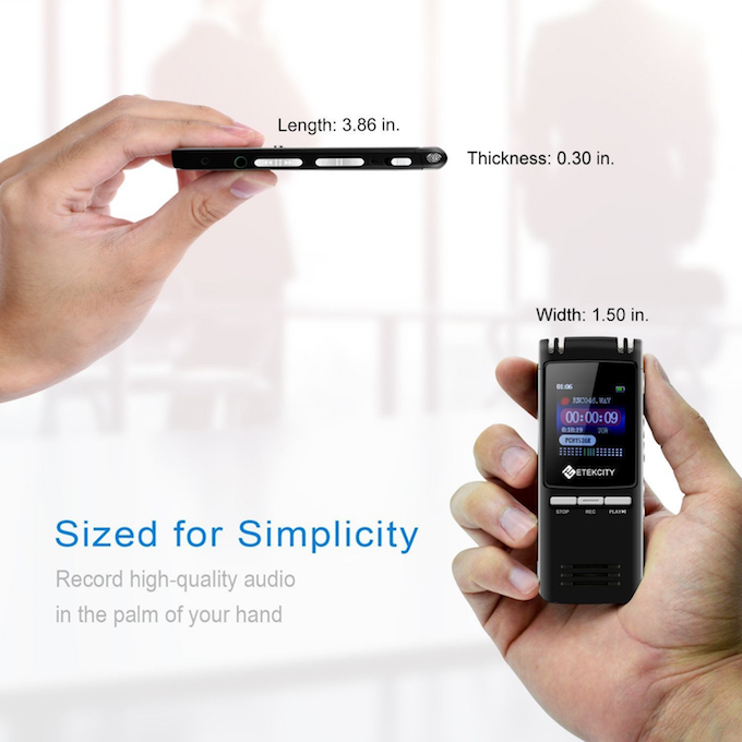 L'Etekcity VR-BK8, un enregistreur ultra-plat