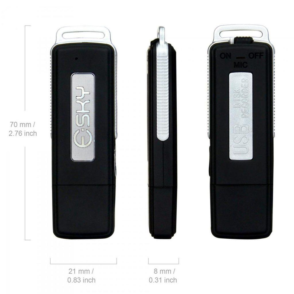 L'Esky B00QPRDT2I, un dictaphone espion à petit prix