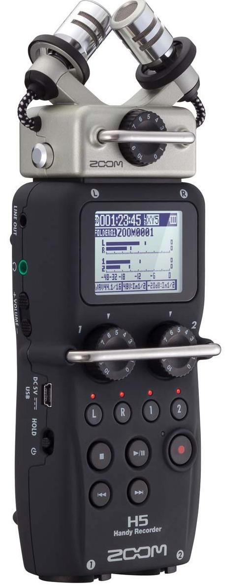 L'enregistreur Zoom H5 fera le bonheur des musiciens de studio