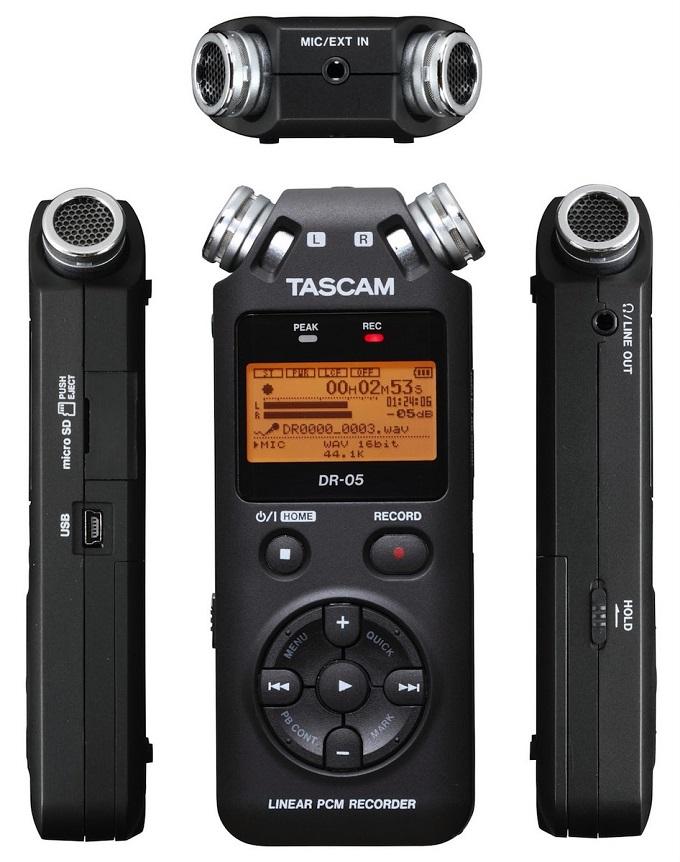 Le DR-05 de chez Tascam est un enregistreur numérique de bonne qualité