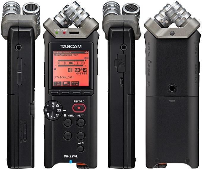 L'enregistreur Tascam DR-22WL